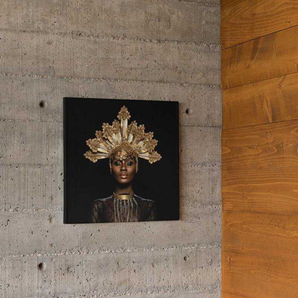 Tableau déco femme africaine bijoux