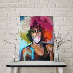 Tableau déco femme afro