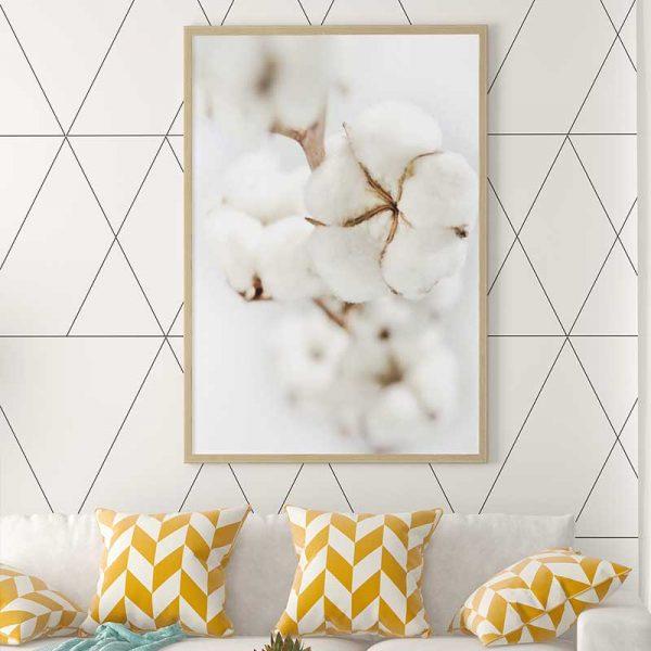 Tableau déco fleur de coton