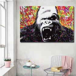 Tableau déco gorille en colère