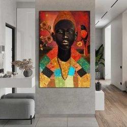 peinture déco homme africain