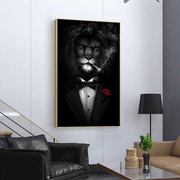 Tableau déco lion mafia