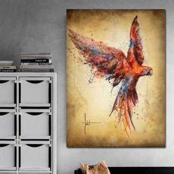 Tableau déco perroquet coloré