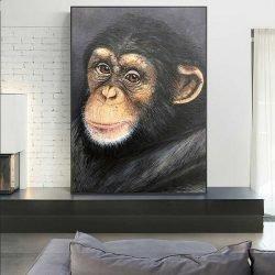 Tableau déco portrait singe