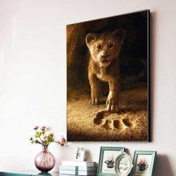 Tableau déco roi lion