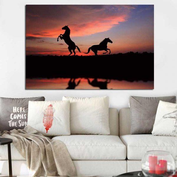 Tableau déco silhouette cheval