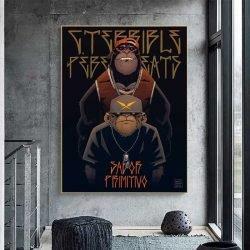 Tableau déco singe gangster