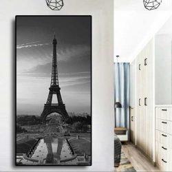 Tableau déco tour Eiffel noir et blanc