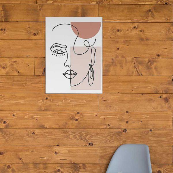 Tableau déco visage minimaliste