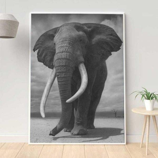 Tableau éléphant d'Afrique