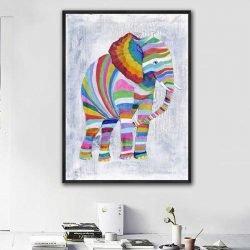 Tableau éléphant coloré