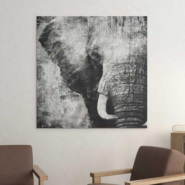 Tableau éléphant gris