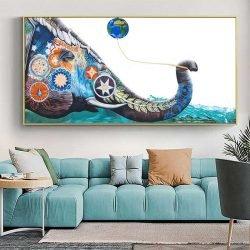 Tableau éléphant lumineux