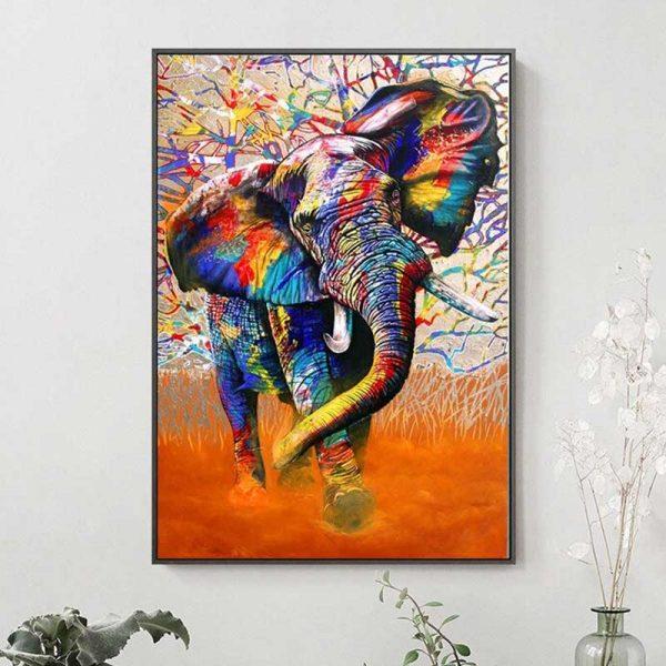 Tableau éléphant moderne