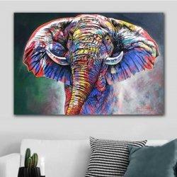 Tableau éléphant multicolore