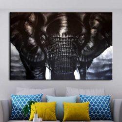 Tableau éléphant noir