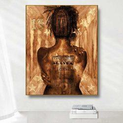 peinture femme africaine de dos