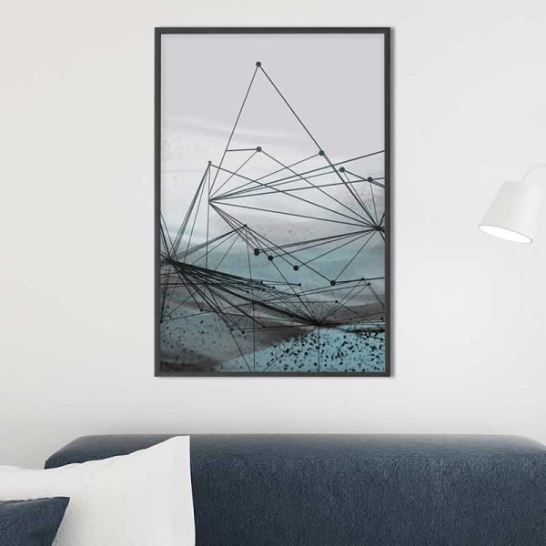 Tableau forme géométrique abstrait