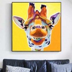 Tableau girafe jaune