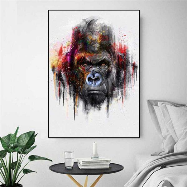 Tableau gorille couleur
