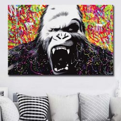 Tableau gorille en colère