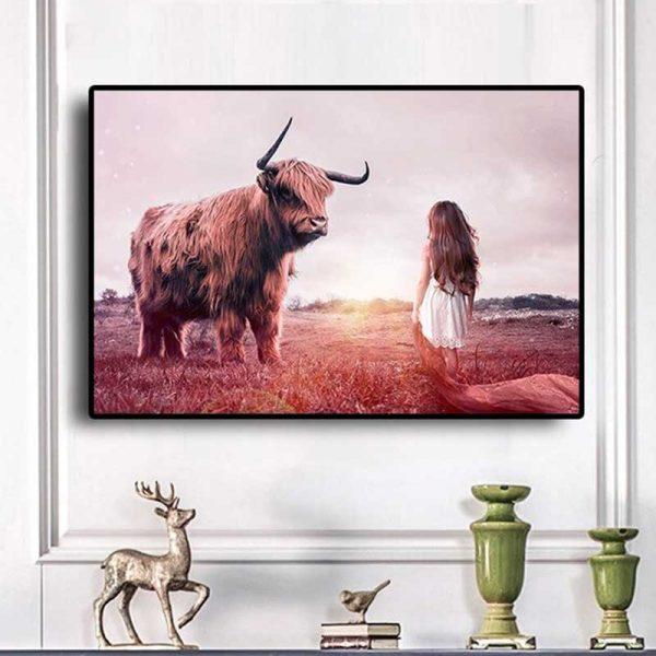 Tableau highland cow