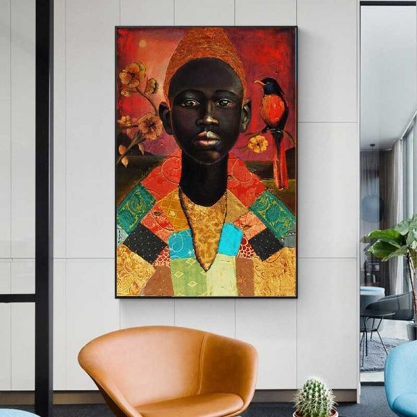 Peinture homme africain