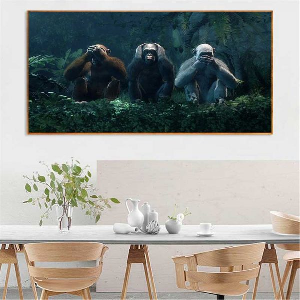 Tableau les 3 singes