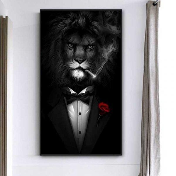 Tableau lion mafia