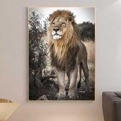 Tableau lion sauvage