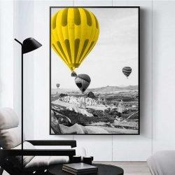 tableau montgolfières