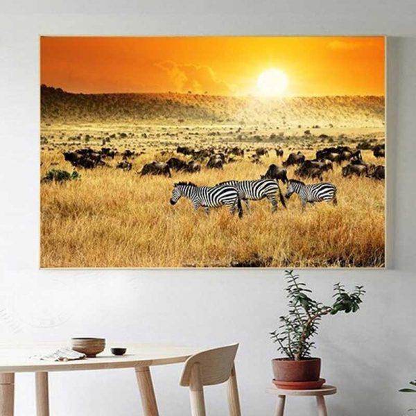 Tableau paysage africain