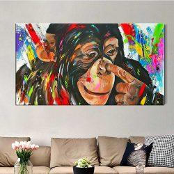 Tableau peinture singe
