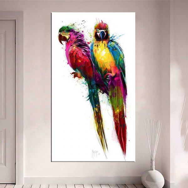 Tableau perroquet en couleur