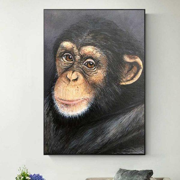 Tableau portrait singe