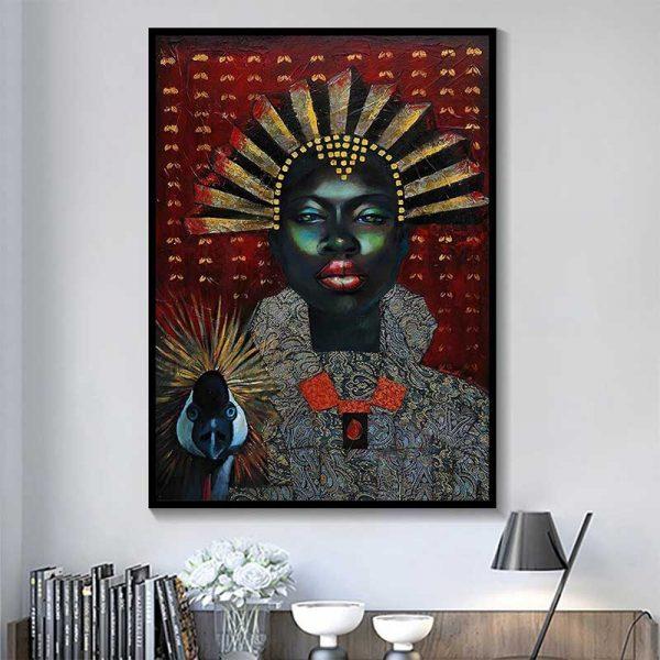 Tableau reine africaine