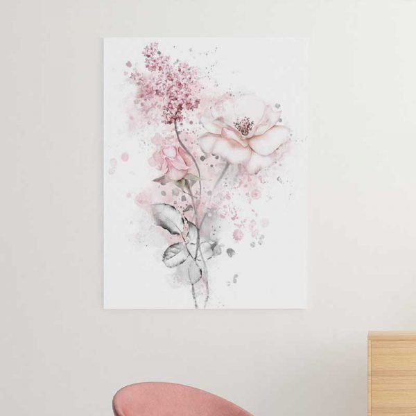 Tableau scandinave rose