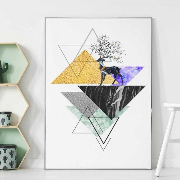 Tableau scandinave triangle