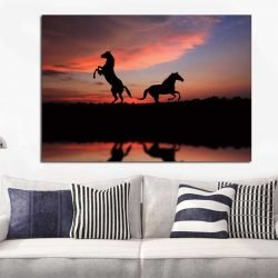 Tableau silhouette cheval