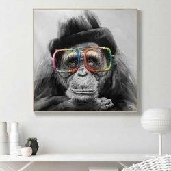 Tableau singe à lunettes