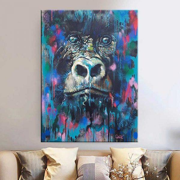 Tableau singe aquarelle