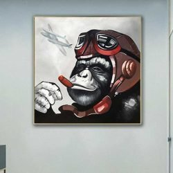 Tableau singe aviateur