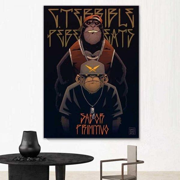 Tableau singe gangster