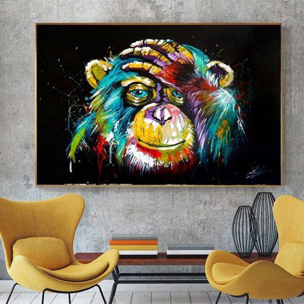 Tableau singe pop art