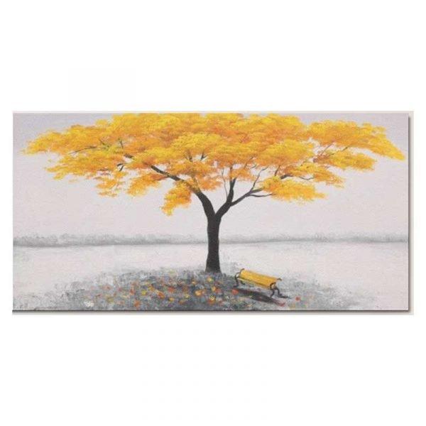 Tableau sur toile arbre jaune