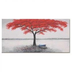 Tableau sur toile arbre rouge