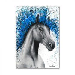 Tableau sur toile cheval bleu