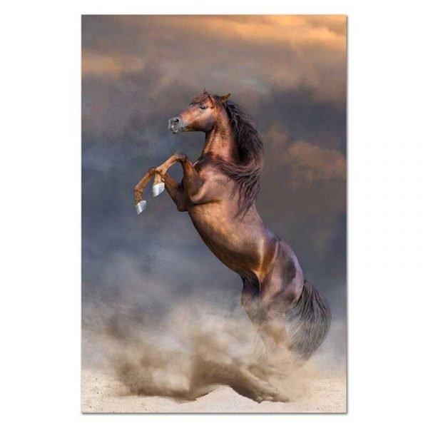Tableau sur toile cheval qui se cabre