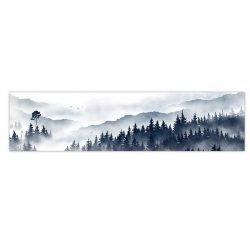 Tableau sur toile forêt et brume