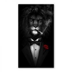 Tableau sur toile lion mafia